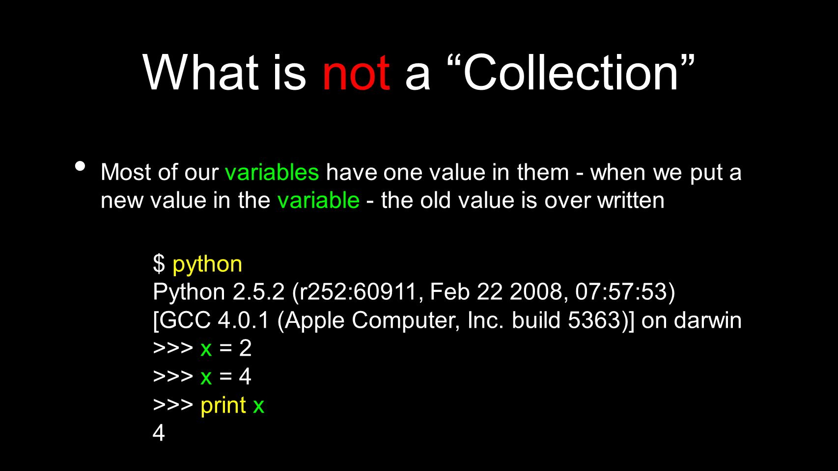 What is not a Collection