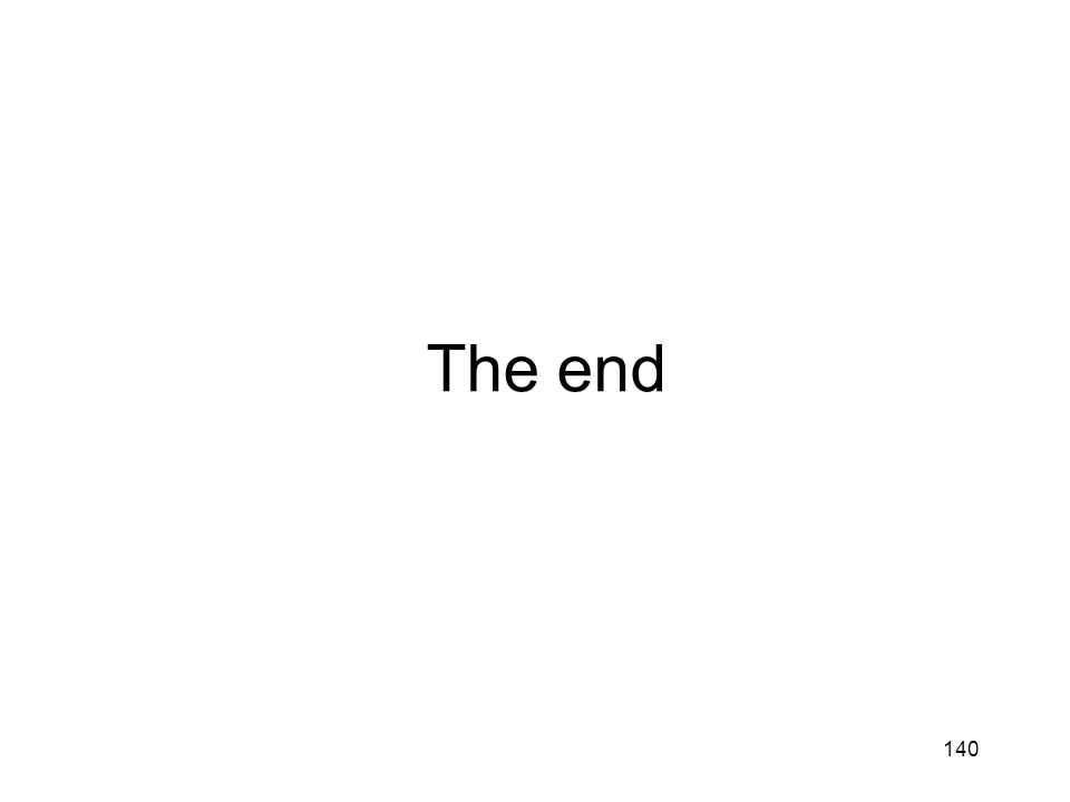 The end 140 We saw 4 approaches to concurrent data structure design.