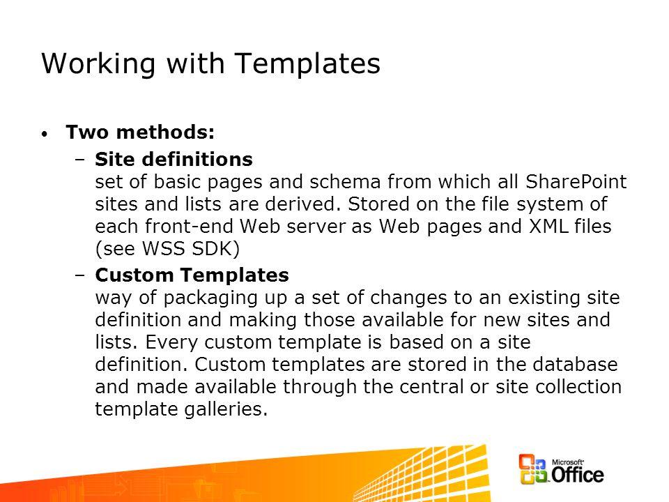 Default Site Definitions (Templates)