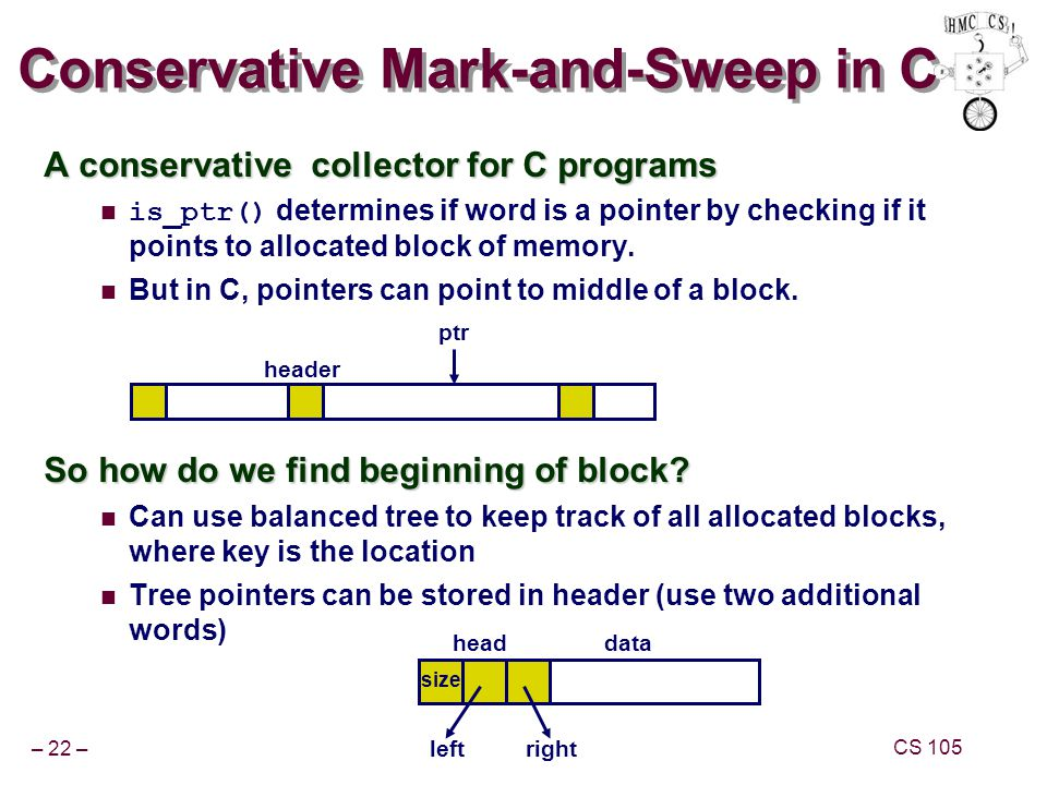Conservative Mark-and-Sweep in C