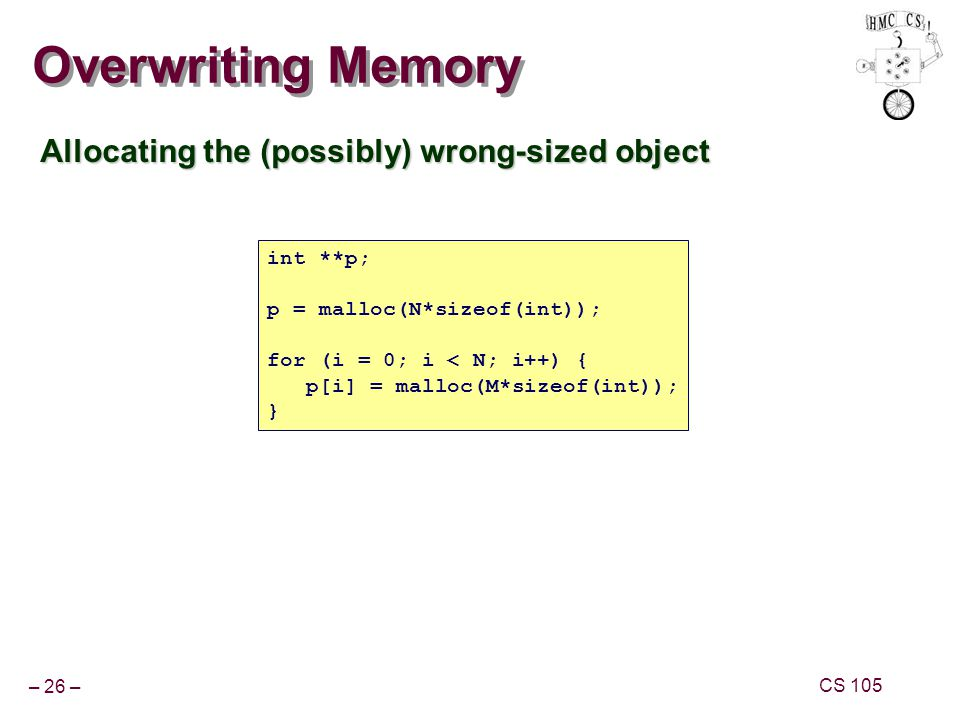Overwriting Memory Allocating the (possibly) wrong-sized object