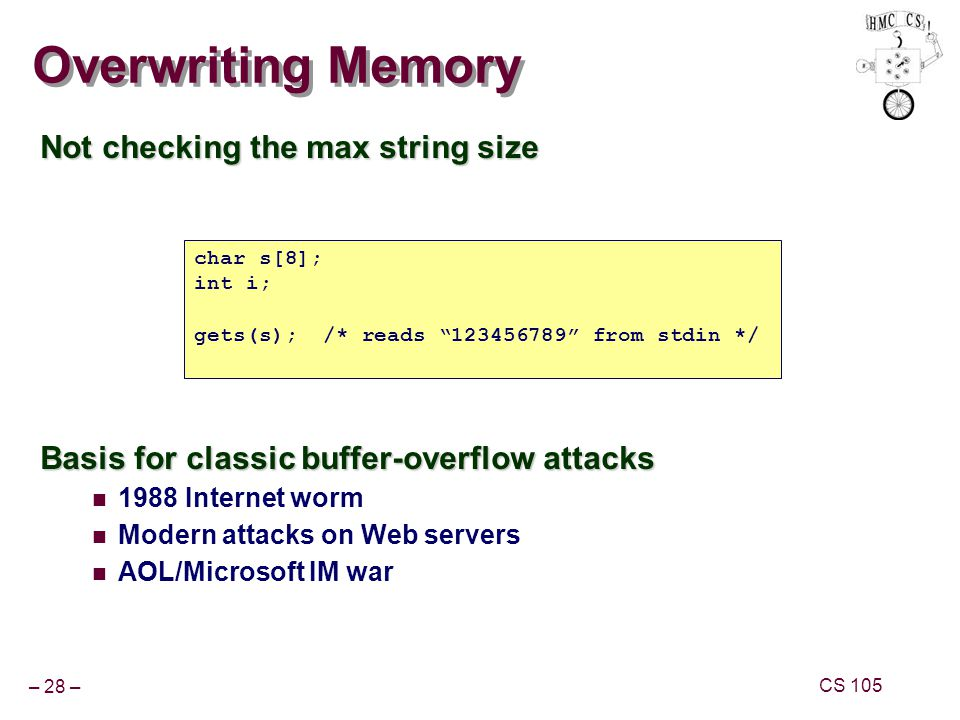 Overwriting Memory Not checking the max string size