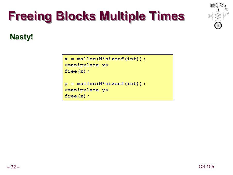 Freeing Blocks Multiple Times