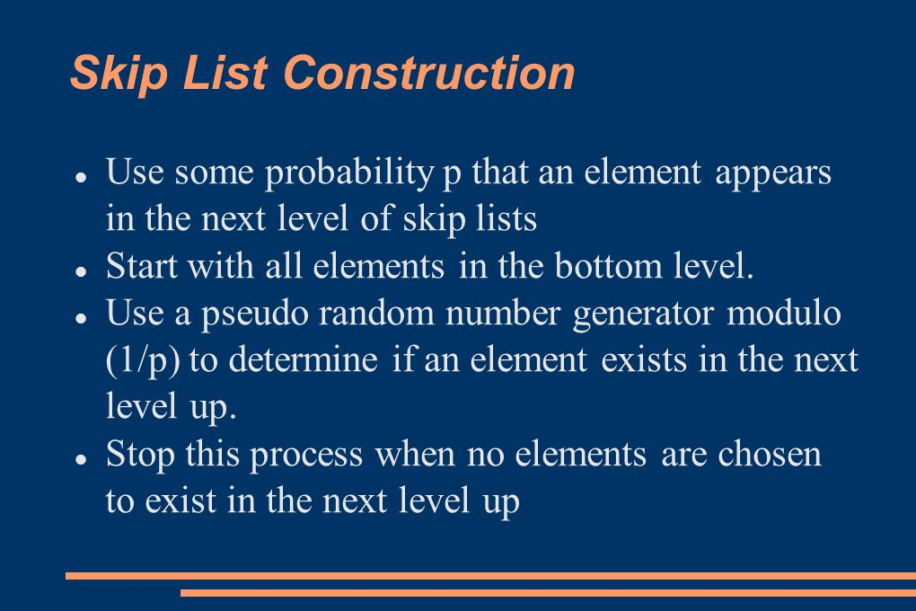 Skip List Construction