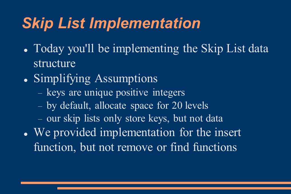 Skip List Implementation