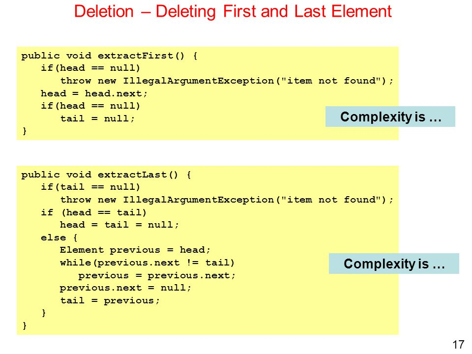 Deletion – Deleting First and Last Element