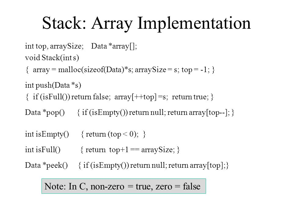 Stack: Array Implementation