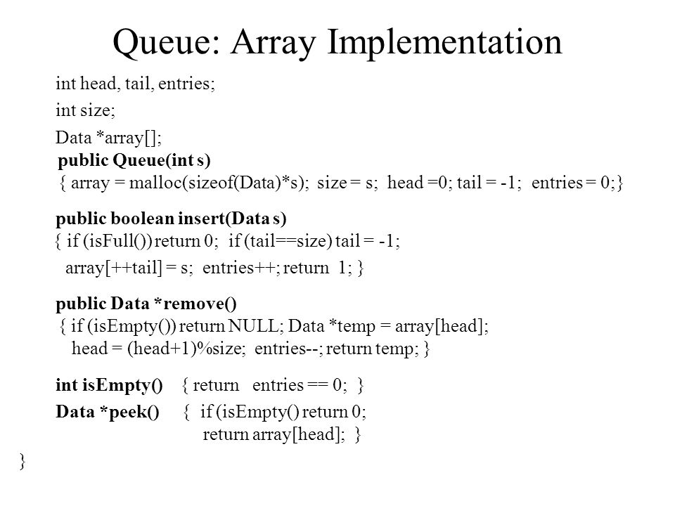 Queue: Array Implementation