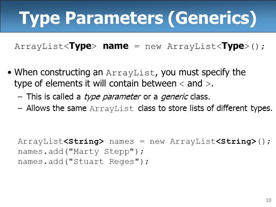 Type Parameters (Generics)