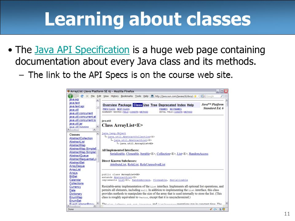 Learning about classes