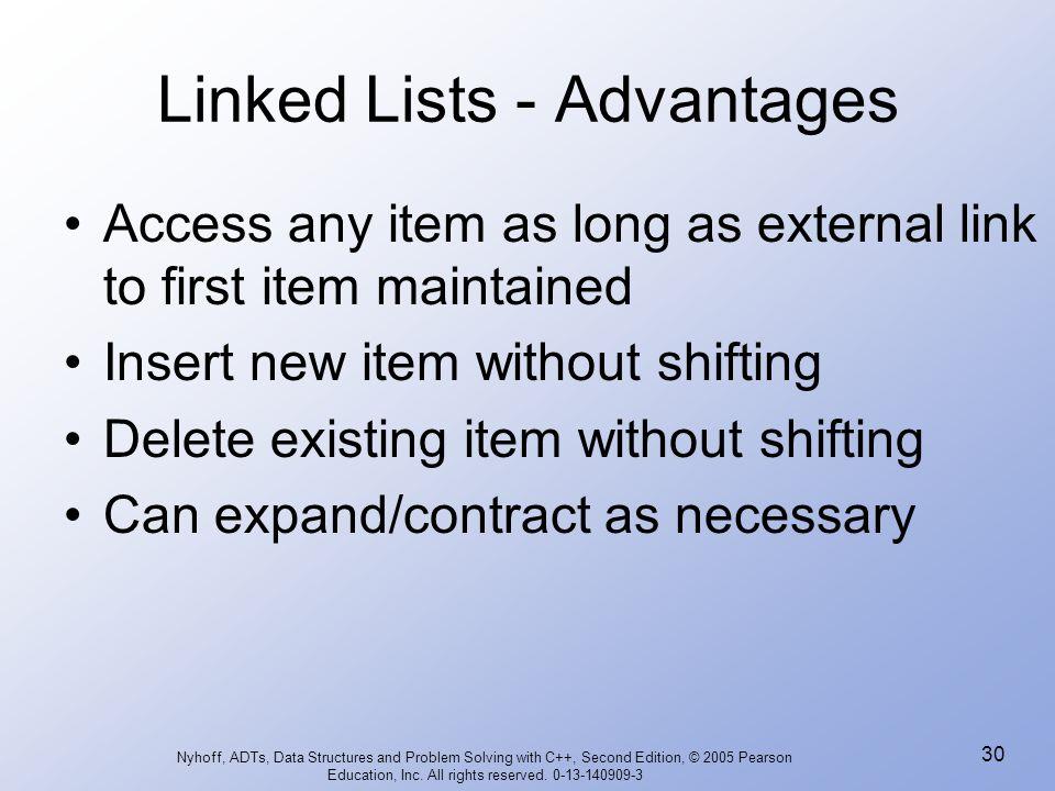 Linked Lists - Advantages