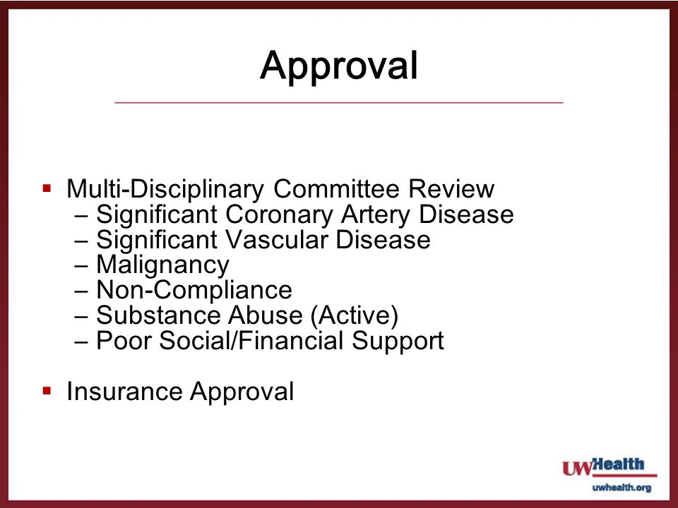 Approval Multi-Disciplinary Committee Review