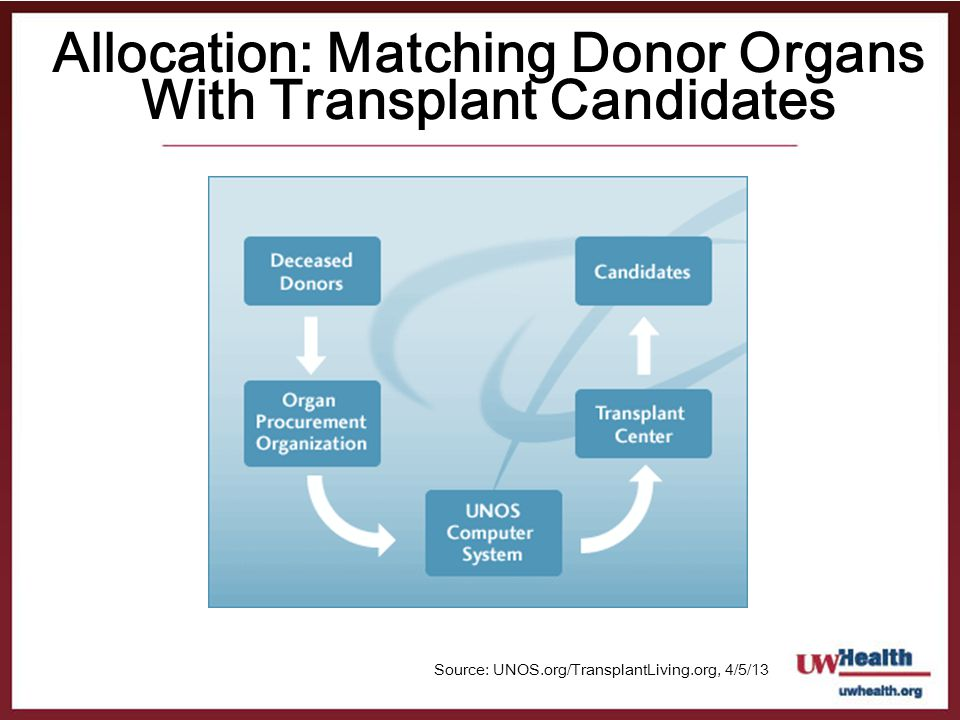 Allocation: Matching Donor Organs With Transplant Candidates