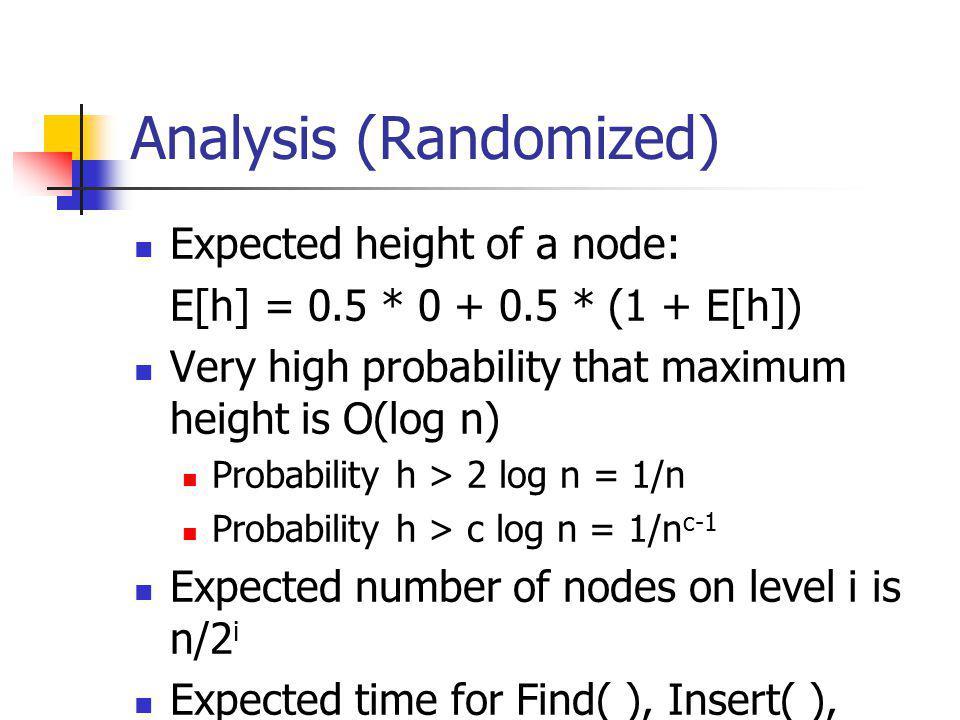 Analysis (Randomized)