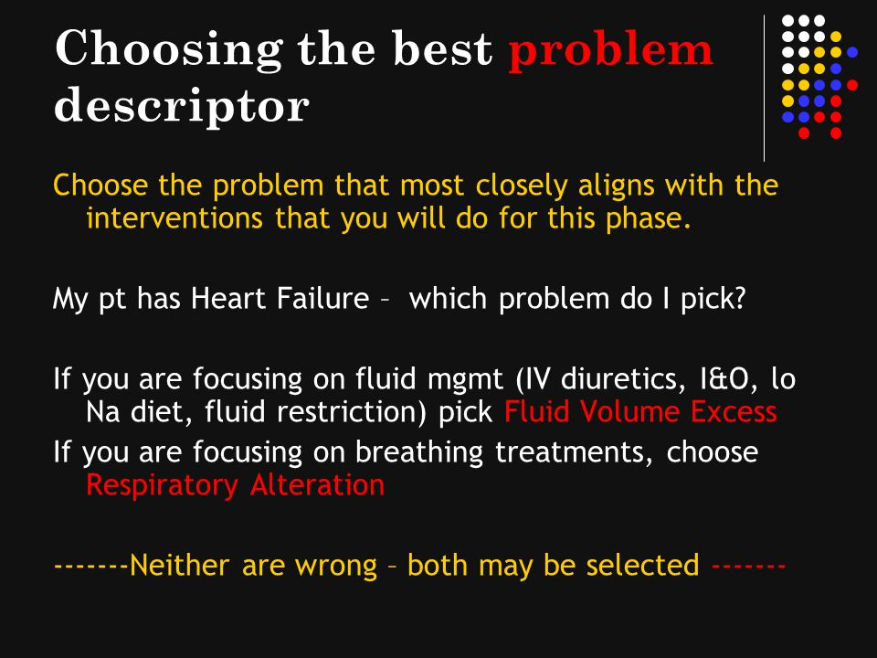 Choosing the best problem descriptor