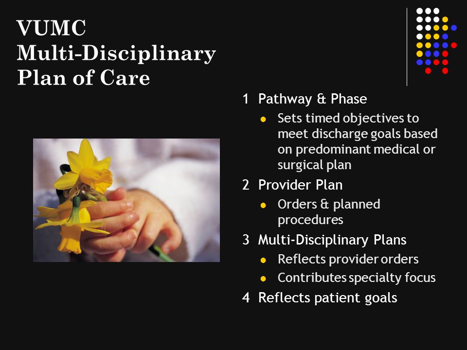 VUMC Multi-Disciplinary Plan of Care