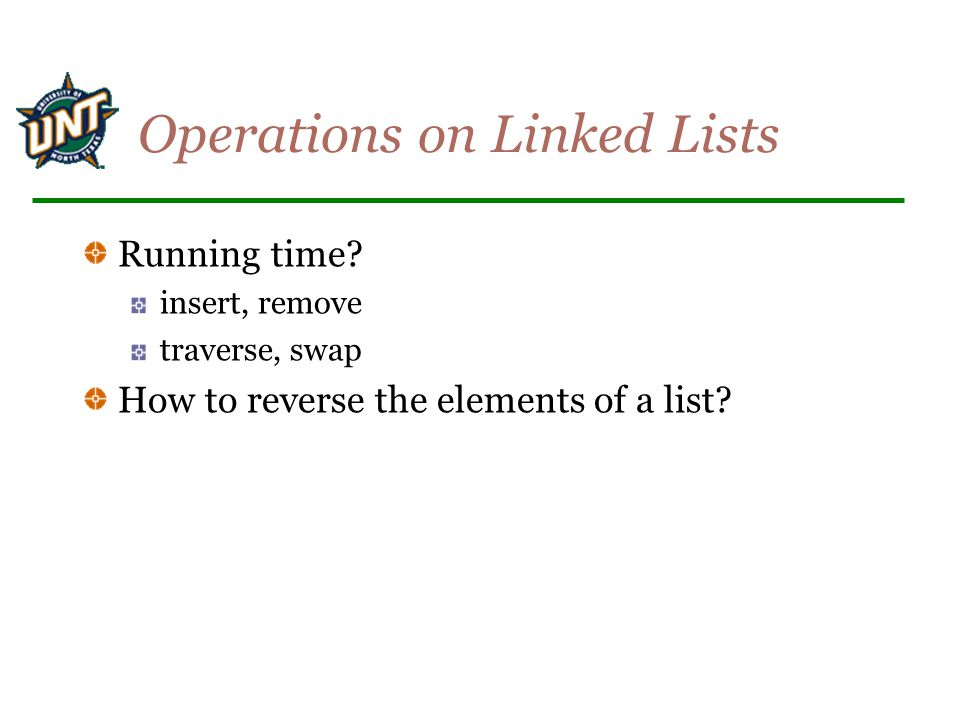 Operations on Linked Lists