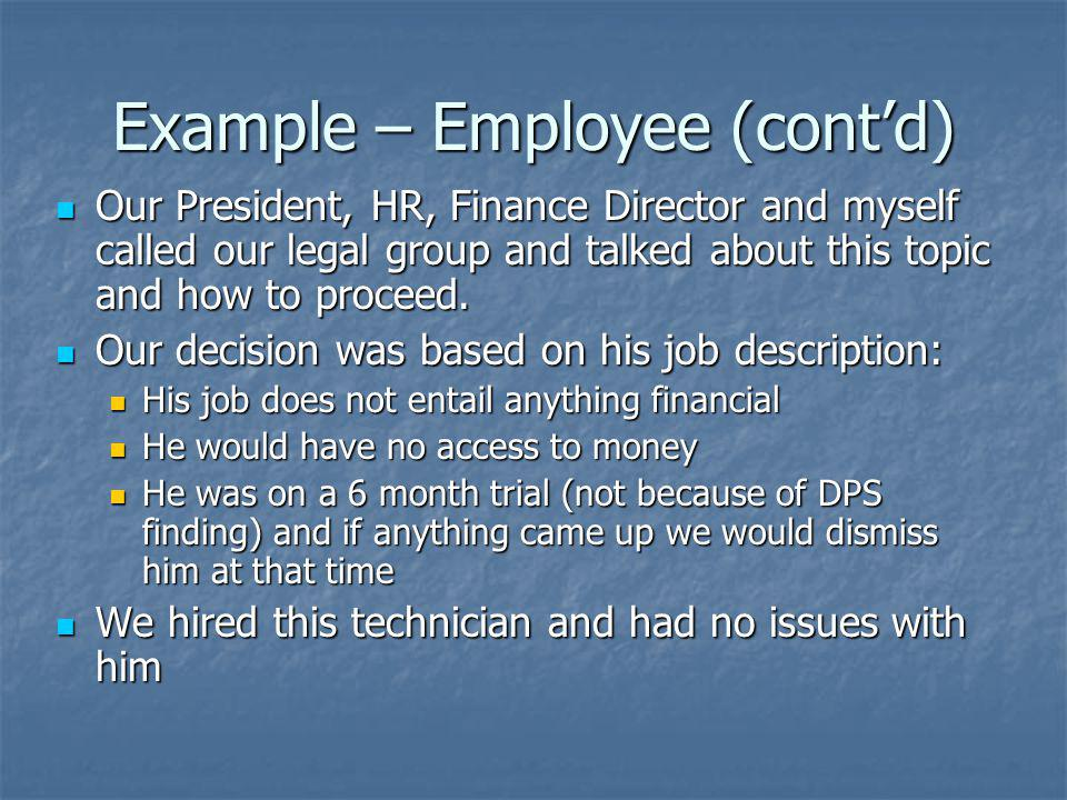 Example – Employee (cont'd)