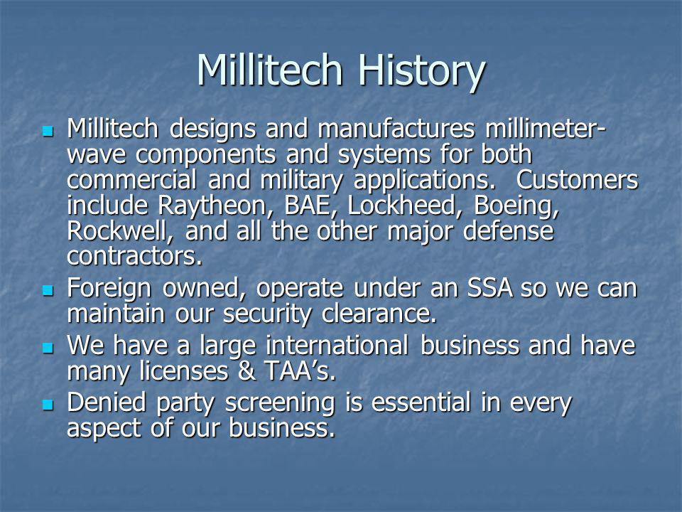 Millitech History