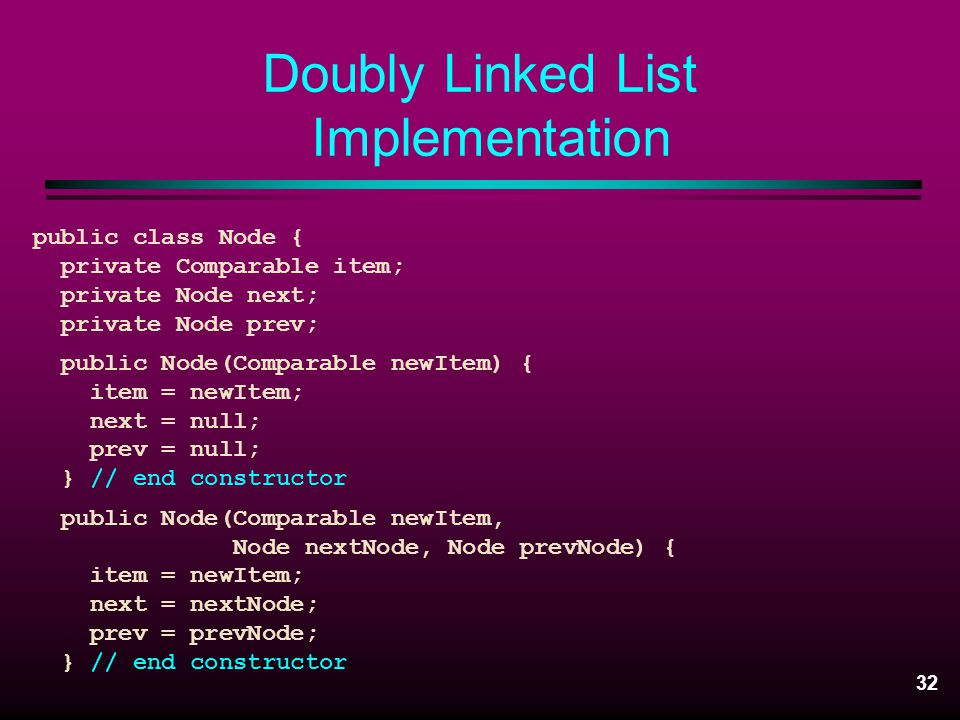 Doubly Linked List Implementation
