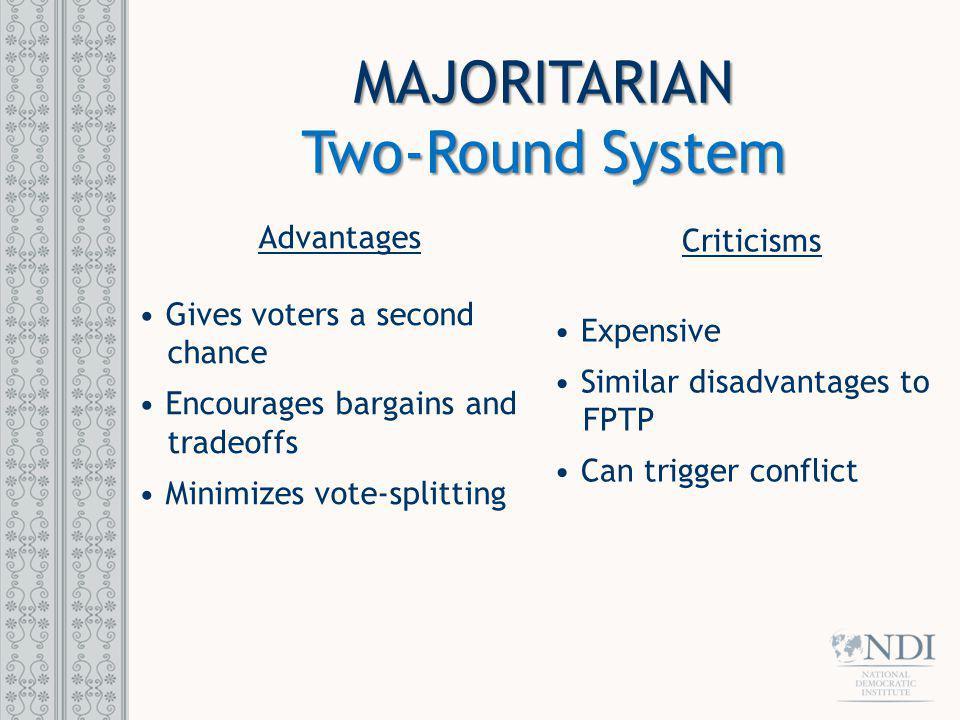 MAJORITARIAN Two-Round System