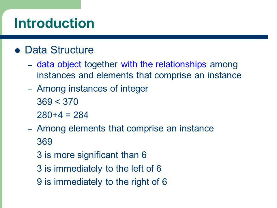 Introduction Data Structure