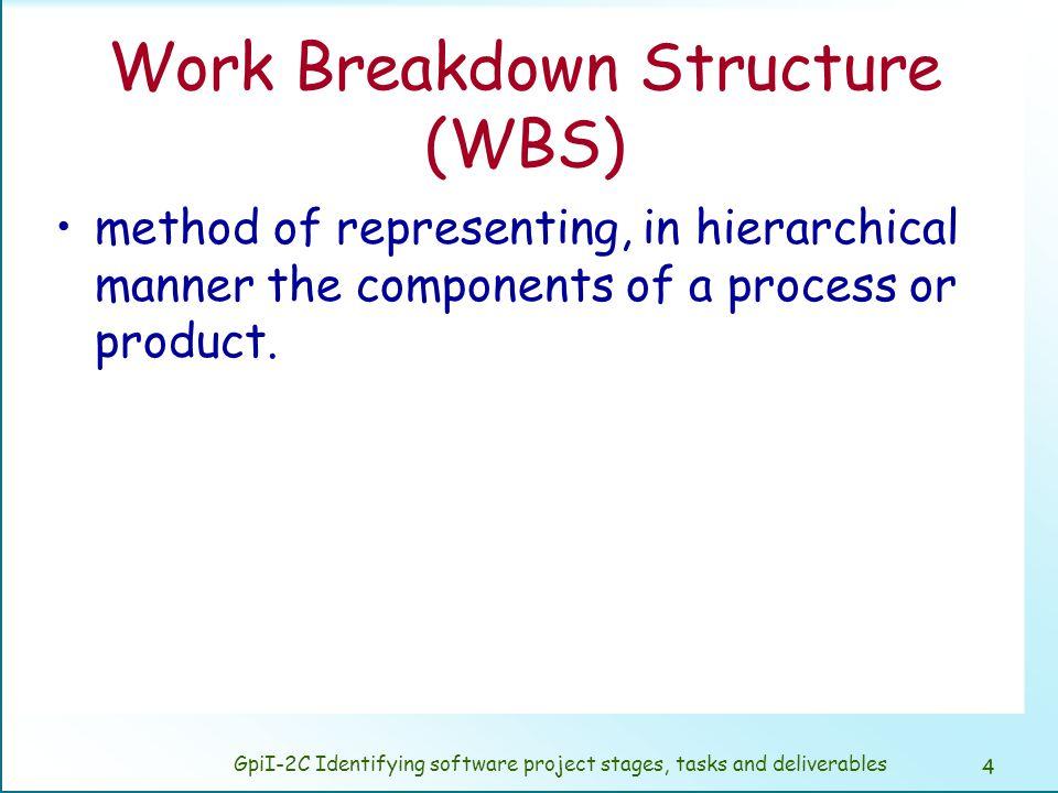 Graphic representation of WBS.