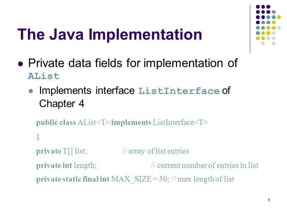 The Java Implementation