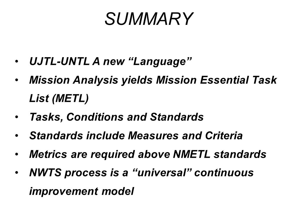 SUMMARY UJTL-UNTL A new Language