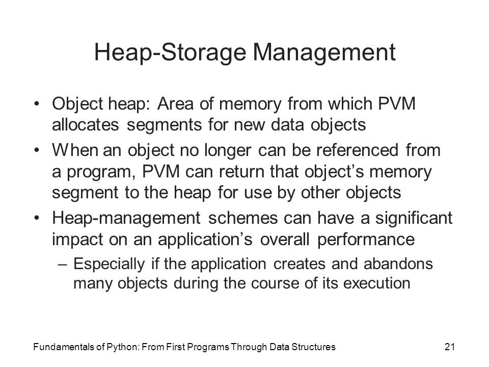 Heap-Storage Management