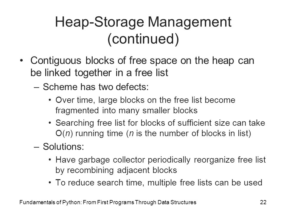 Heap-Storage Management (continued)