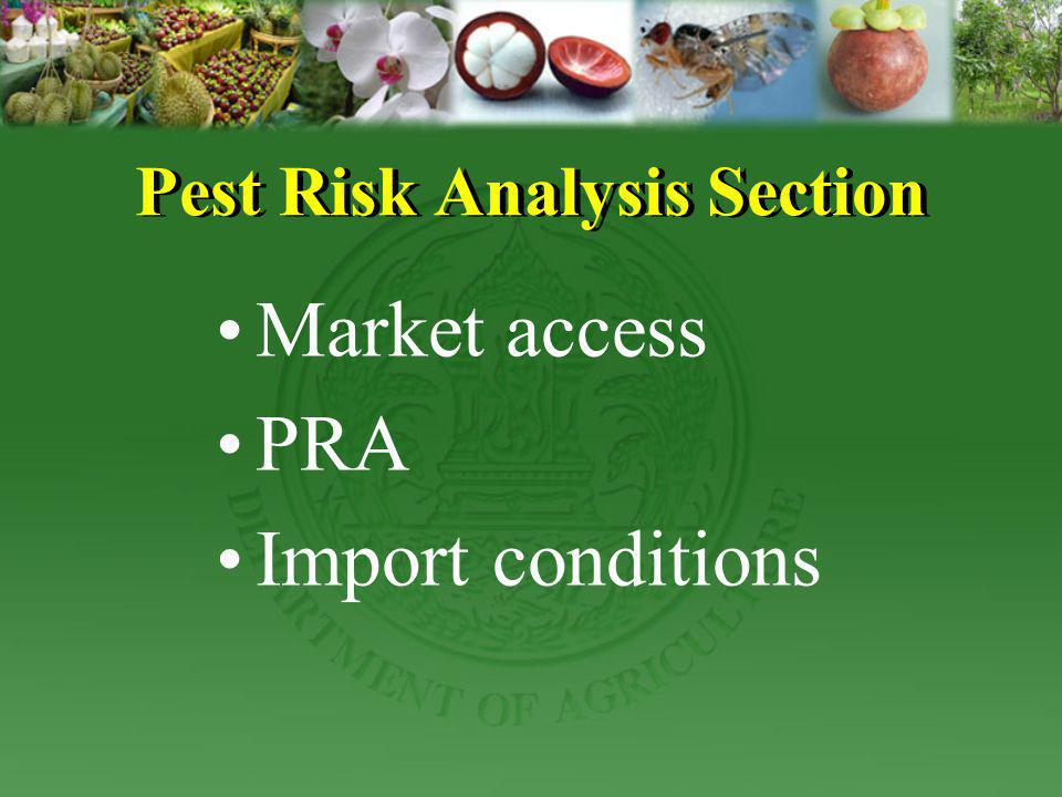 Pest Risk Analysis Section
