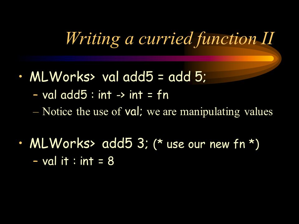 Writing a curried function II