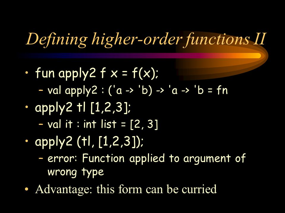 Defining higher-order functions II