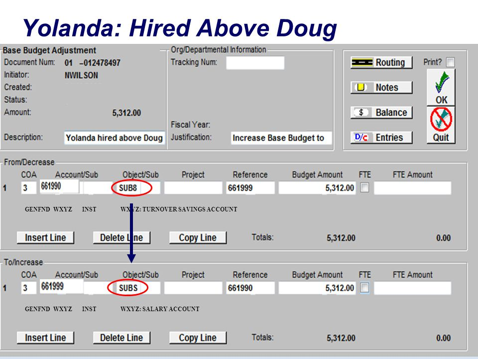 Yolanda: Hired Above Doug