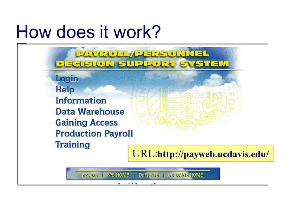 How does it work URL:http://payweb.ucdavis.edu/