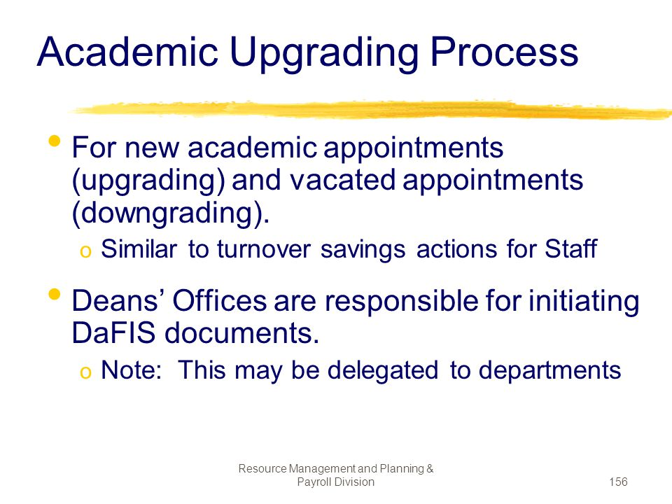 Academic Upgrading Process