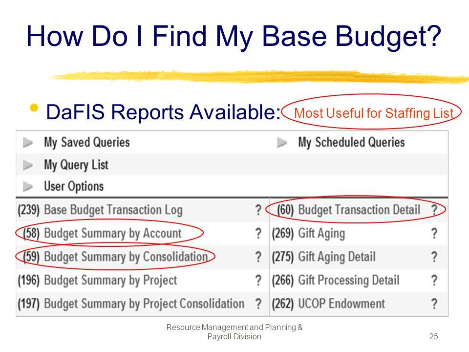 How Do I Find My Base Budget