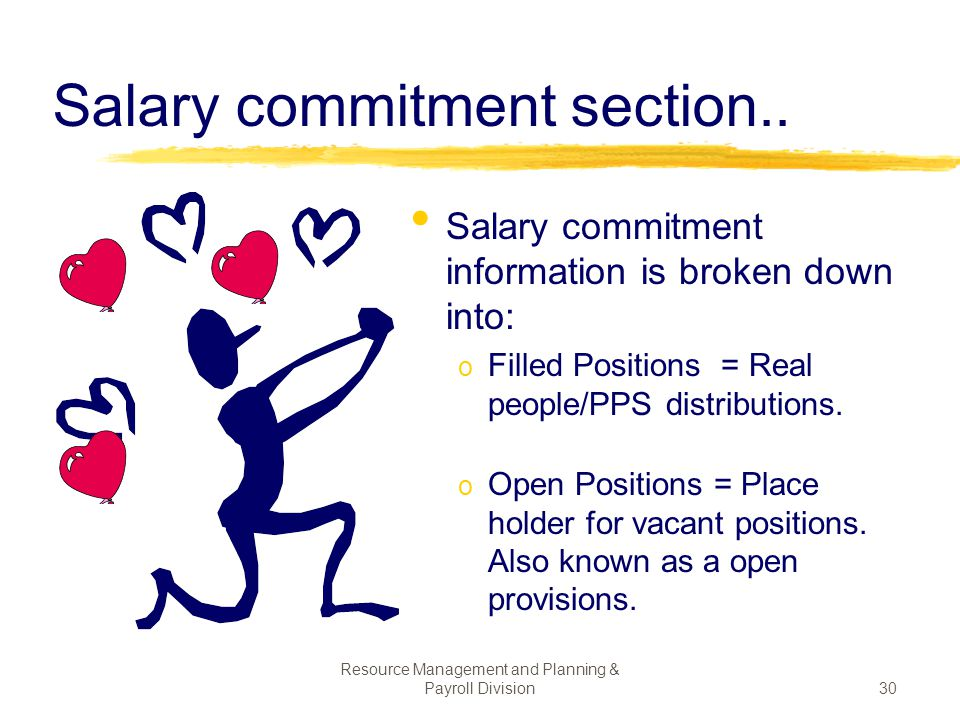 Salary commitment section..