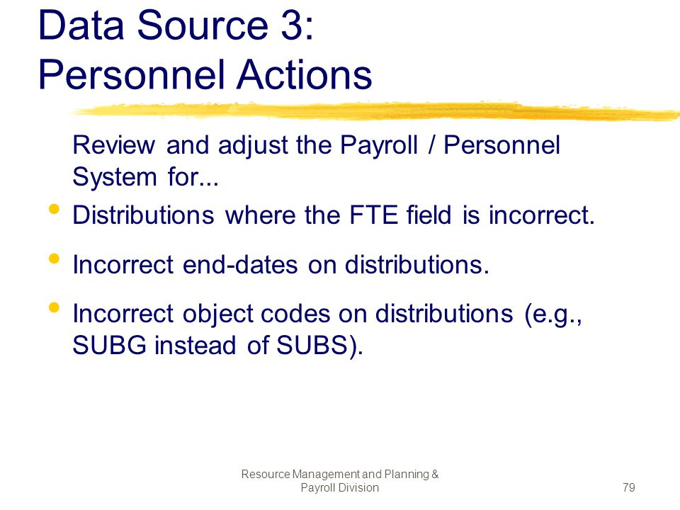 Data Source 3: Personnel Actions