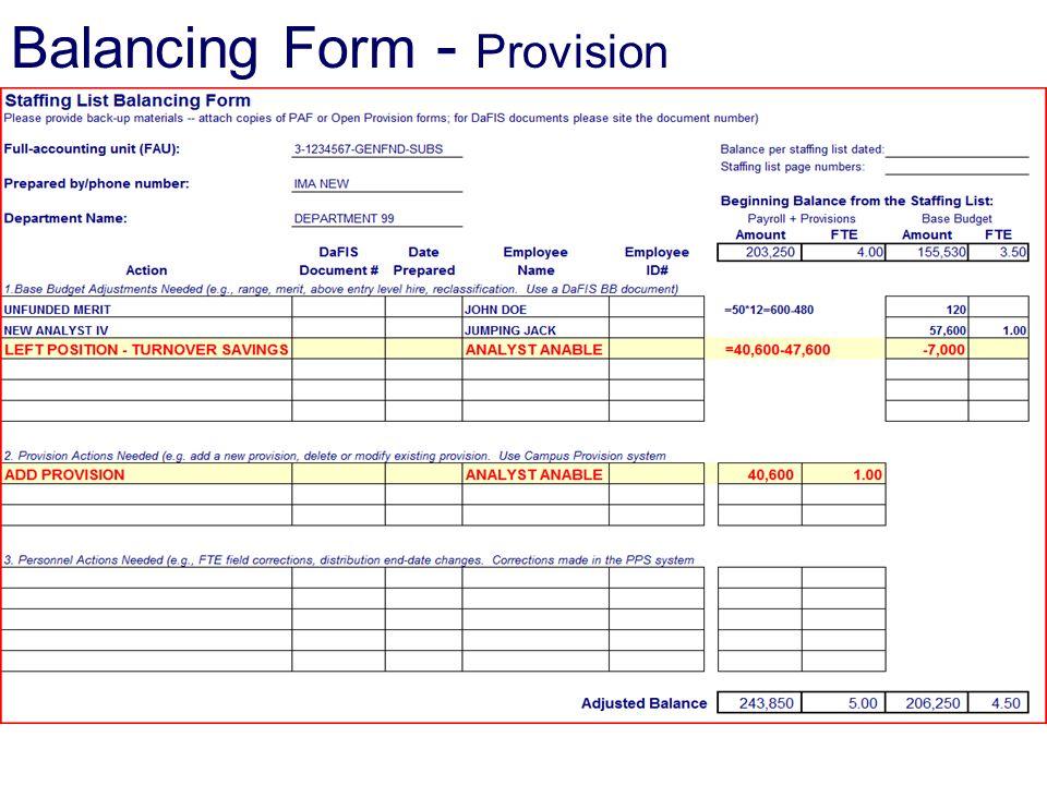 Balancing Form - Provision