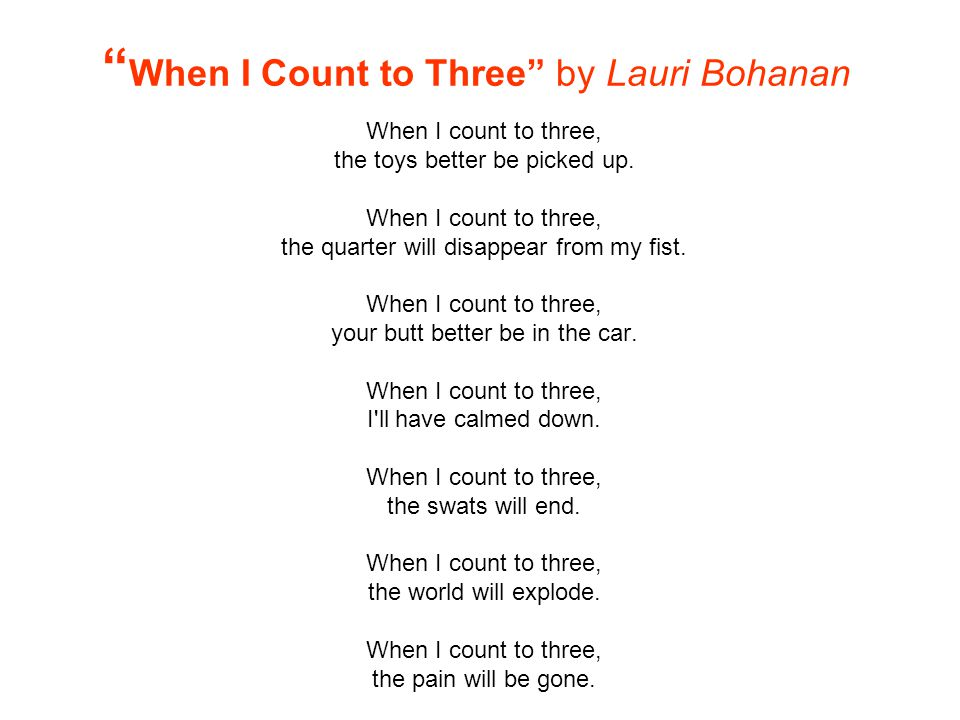 When I Count to Three by Lauri Bohanan