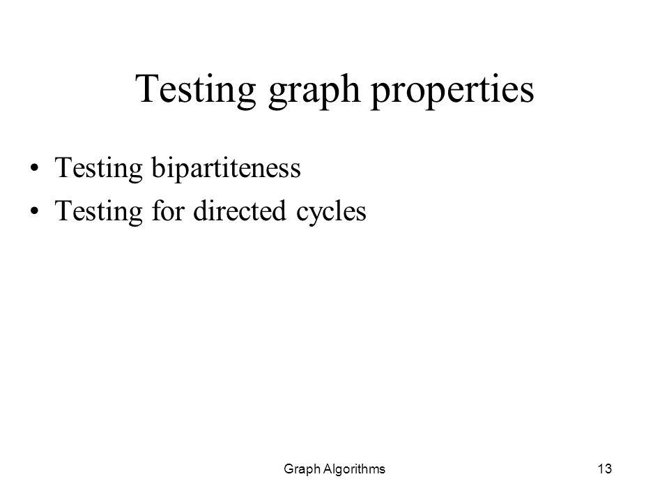 Testing graph properties