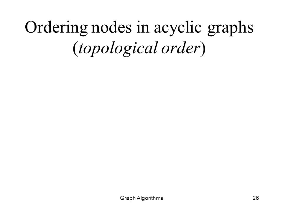 Ordering nodes in acyclic graphs (topological order)