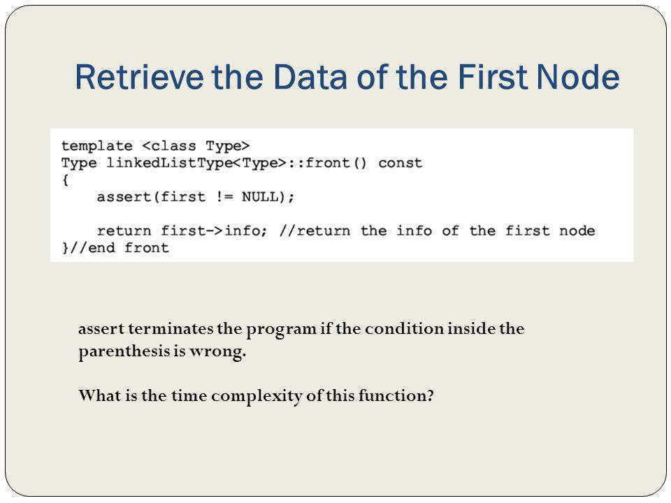 Retrieve the Data of the First Node