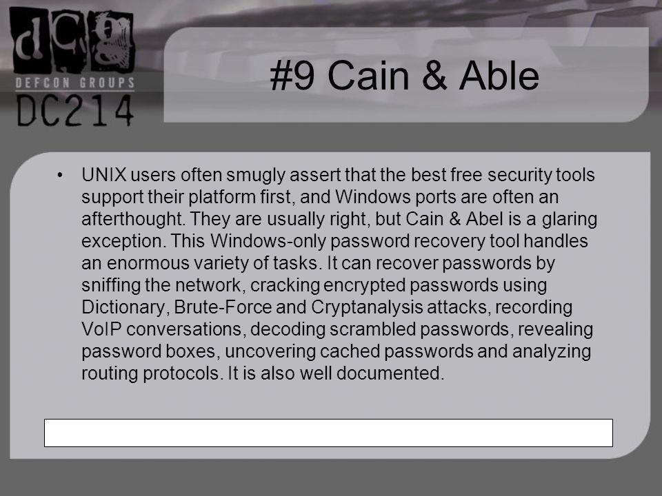 #9 Cain & Able