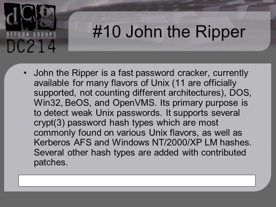 #10 John the Ripper