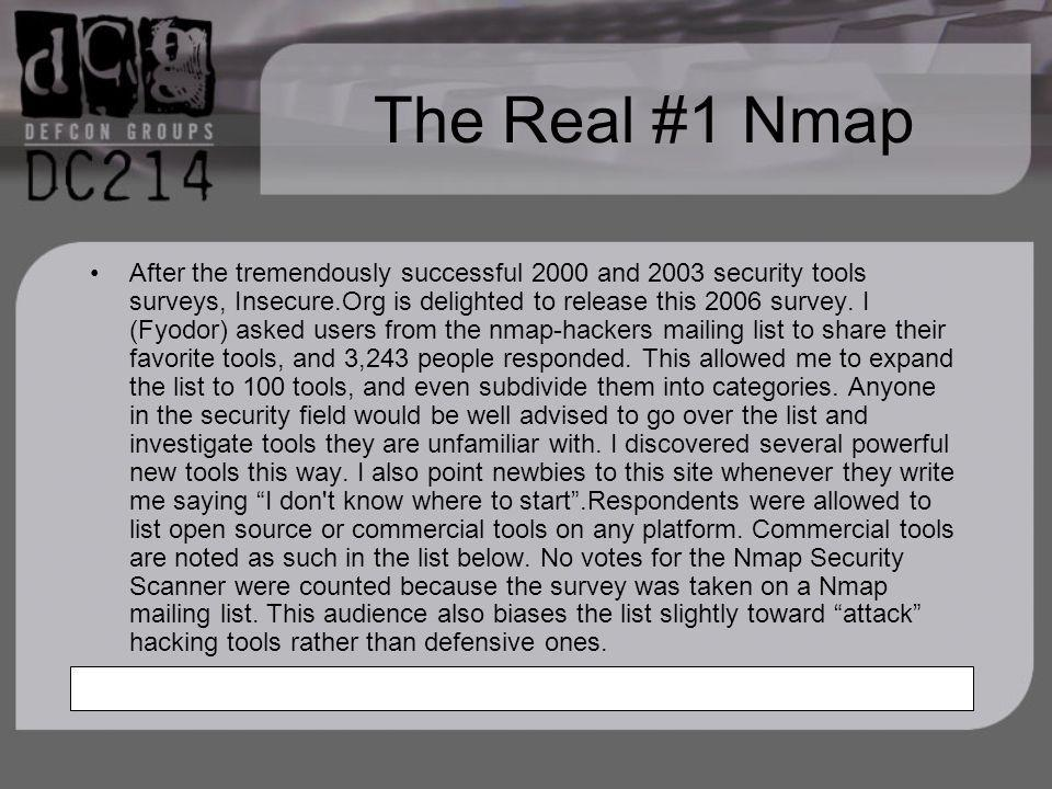The Real #1 Nmap