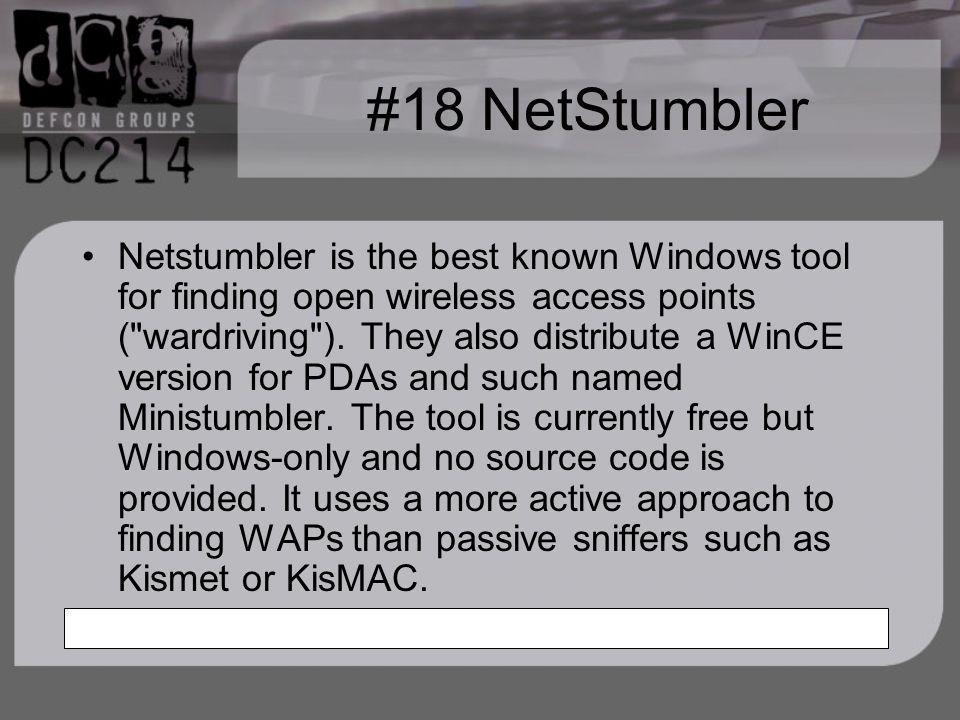 #18 NetStumbler