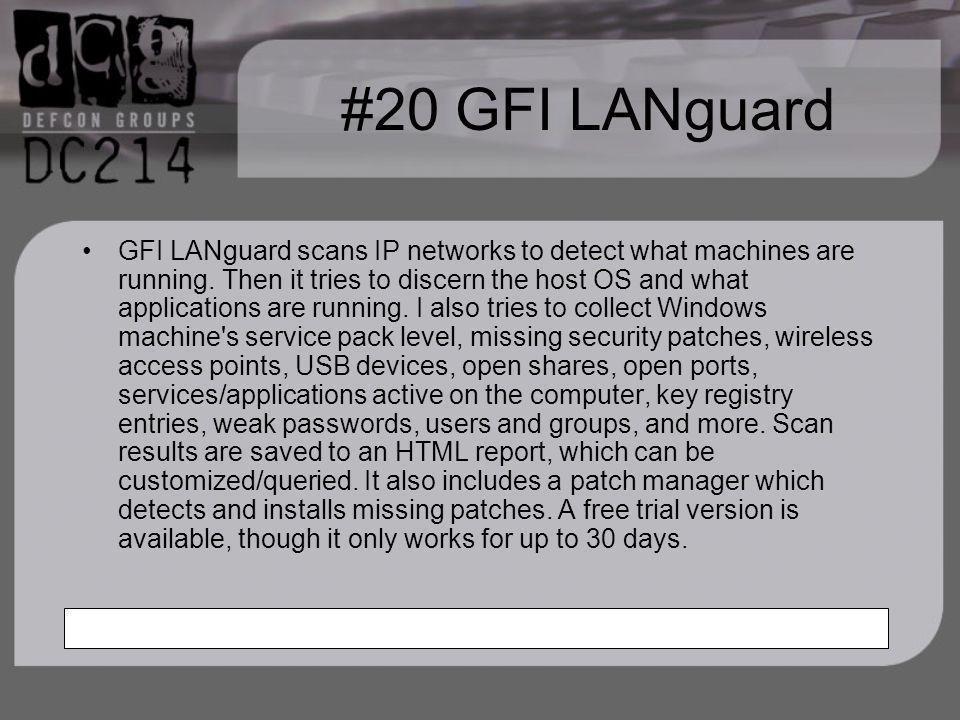 #20 GFI LANguard